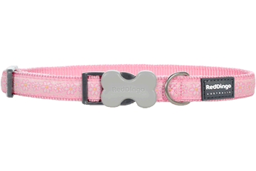 Red Dingo Dog Collar Daisy Chain Pink DC-DC-PK