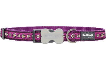 Red Dingo Dog Collar Daisy Chain Purple DC-DC-PU