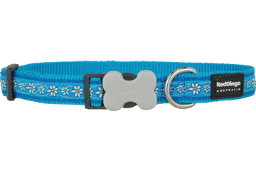 Red Dingo Dog Collar Daisy Chain Turquoise DC-DC-TQ