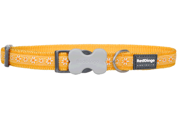 Red Dingo Dog Collar Daisy Chain Yellow DC-DC-YE
