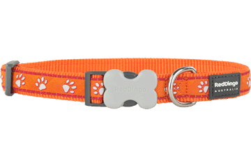 Red Dingo Dog Collar Desert Paws Orange DC-DP-OR