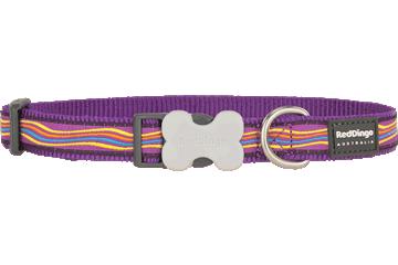 Red Dingo Dog Collar Dreamstream Purple DC-DS-PU