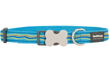 Red Dingo Dog Collar Dreamstream Turquoise DC-DS-TQ