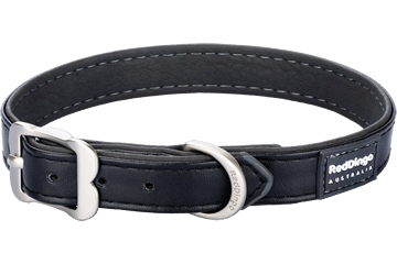 Red Dingo Dog Collar Elegant Nero DC-EL-BB