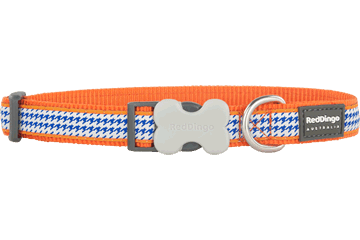 Red Dingo Collier pour chien Pied de poule Orange DC-FG-OR
