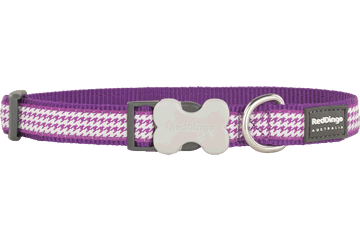 Red Dingo Hondenhalsband Fang It purper DC-FG-PU