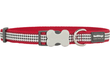 Red Dingo Collier pour chien Pied de poule Rouge DC-FG-RE