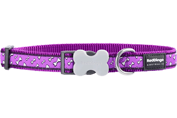 Red Dingo Dog Collar Flying Bones Purple DC-FL-PU