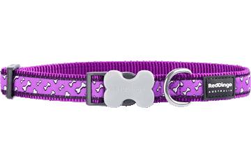 Red Dingo Dog Collar Flying Bones Purple DC-FL-PU