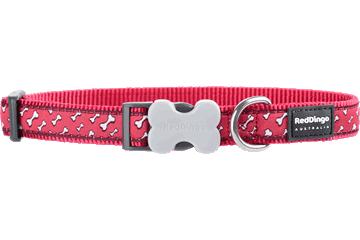 Red Dingo Dog Collar Flying Bones Red DC-FL-RE