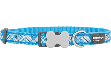 Red Dingo Dog Collar Flanno Turquoise DC-FN-TQ