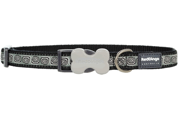 Red Dingo Dog Collar Hypno Black DC-HY-BB