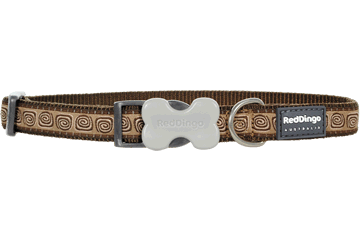 Red Dingo Dog Collar Hypno Brown DC-HY-BR
