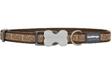 Red Dingo Hondenhalsband Hypno bruin DC-HY-BR
