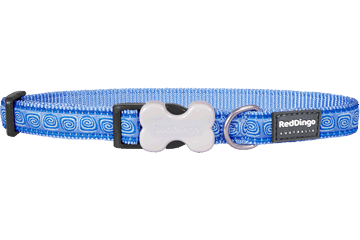 Red Dingo Dog Collar Hypno Medium Blue DC-HY-MB