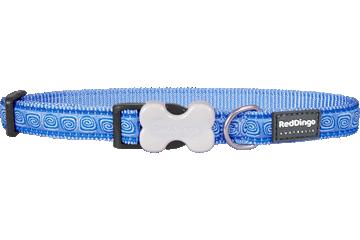 Red Dingo Dog Collar Hypno Medium Blue DC-HY-MB