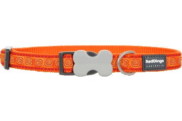 Red Dingo Dog Collar Hypno Orange DC-HY-OR