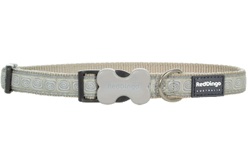Red Dingo Dog Collar Hypno Silver DC-HY-SI