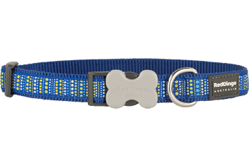 Red Dingo Hondenhalsband Lotzadotz donkerblauw DC-LD-DB