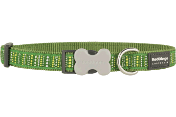 Red Dingo Dog Collar Lotzadotz Green DC-LD-GR