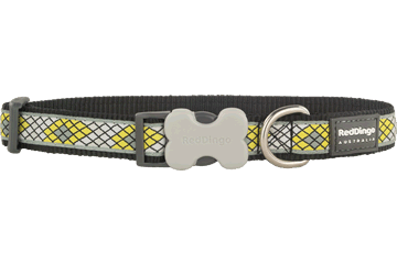 Red Dingo Dog Collar Monty Black DC-MY-BB