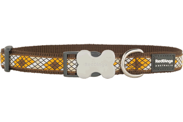 Red Dingo Dog Collar Monty Brown DC-MY-BR