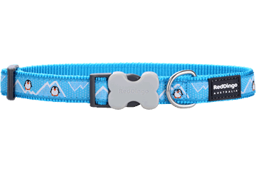 Red Dingo Dog Collar Penguin Turquoise DC-PE-TQ