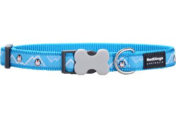 Red Dingo Hondenhalsband Penguin Turquoise DC-PE-TQ