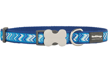 Red Dingo Dog Collar Pizzazz Dark Blue DC-PZ-DB