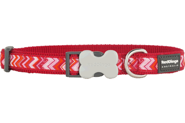 Red Dingo Dog Collar Pizzazz Red DC-PZ-RE