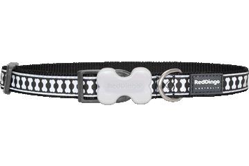 Red Dingo Hundehalsband Reflective Bones Schwarz DC-RB-BB