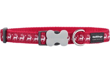 Red Dingo Dog Collar Reindeer Red DC-RD-RE