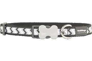 Red Dingo Dog Collar Reflective Ziggy Black DC-RZ-BB