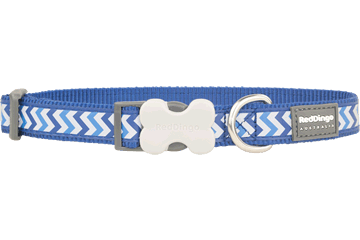 Red Dingo Dog Collar Reflective Ziggy Dark Blue DC-RZ-DB