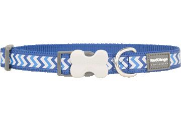 Red Dingo Dog Collar Reflective Ziggy Dark Blue DC-RZ-DB