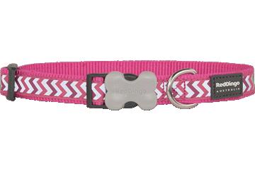Red Dingo Dog Collar Reflective Ziggy Hot Pink DC-RZ-HP