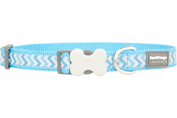 Red Dingo Dog Collar Reflective Ziggy Turquoise DC-RZ-TQ