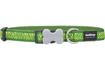 Red Dingo Dog Collar Safari Green DC-SA-GR