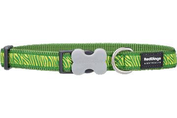 Red Dingo Dog Collar Safari Verde DC-SA-GR