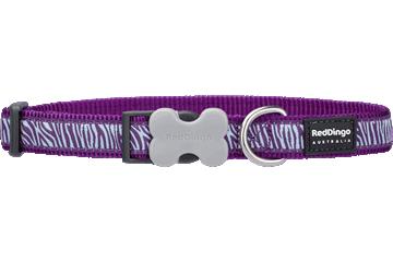 Red Dingo Dog Collar Safari Purple DC-SA-PU