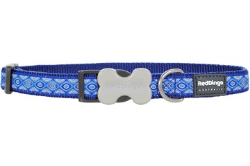 Red Dingo Dog Collar Snake Eyes Dark Blue DC-SE-DB