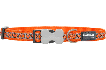 Red Dingo Hondenhalsband Snake Eyes oranje DC-SE-OR