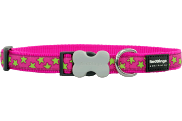 Red Dingo Dog Collar Stars Hot Pink DC-ST-HP