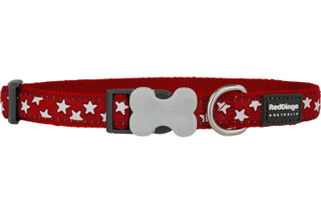 Red Dingo Dog Collar Stars Rosso DC-ST-RE