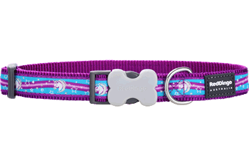 Red Dingo Dog Collar Unicorn Purple DC-UC-PU
