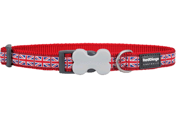 Red Dingo Hondenhalsband Union Jack rood DC-UK-RE