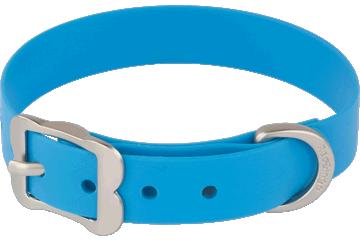 Red Dingo Dog Collar Vivid PVC Blue DC-VI-DB
