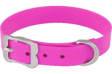 Red Dingo Dog Collar Vivid PVC Hot Pink DC-VI-HP
