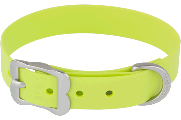 Red Dingo Dog Collar Vivid PVC Lime Green DC-VI-LG