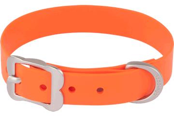 Red Dingo Dog Collar Vivid PVC Orange DC-VI-OR